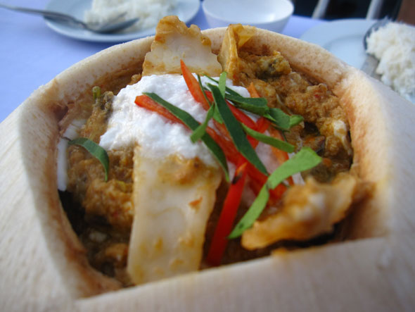Thai seafood curry coconut