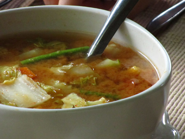 Thai Sweet And Sour Vegetable Soup Gaeng Som Pak Ruam
